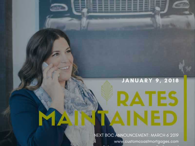 January 2019: Rate Update