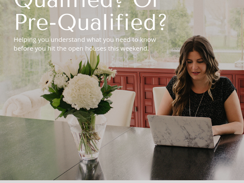 "Let's talk about ""Pre-Qualified"" vs. ""Qualified"""